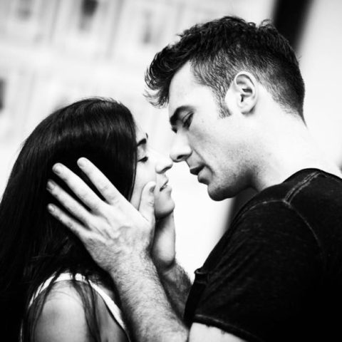 Rehearsals of West Side Story, Filipa van Eck (Maria) and Jonathan Roxmouth (Tony)